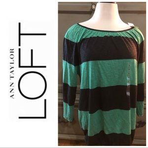 Ann Taylor loft striped blouse